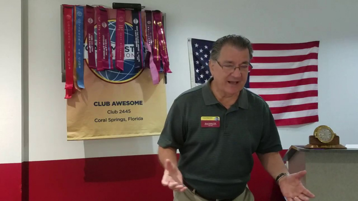 """Video: Bruce Pockey, """"I Had a Whole Different Speech Planned"""""""